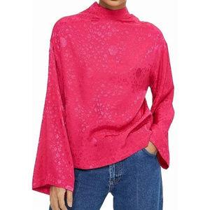 Topshop + Jacquard kimono Sleeve Top